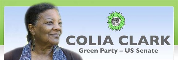Colia Clark, Green Party for US Senate